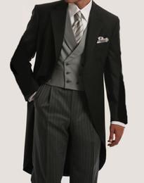 $enCountryForm.capitalKeyWord Australia - Morning Style Groomsmen Custom Made Groom Tuxedos One Button Men Suits Wedding Best Man Blazer ( Jacket+Pants+Vest ) C123 #542260