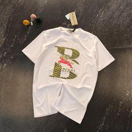 $enCountryForm.capitalKeyWord Australia - 19ss luxurious brand design BBR Warhorse classic hot stamping print t-shirt Men Women Breathable Fashion Streetwear Outdoor t-shirt