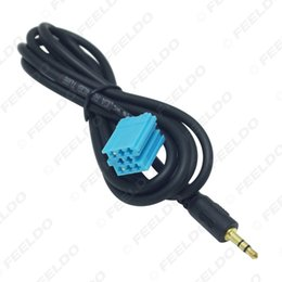 audio input cable Canada - Car Stereo Female 3.5mm Audio Aux Input Cable Adaptet For VW Golf Passat B5 Bora Polo Blaupunkt #5742