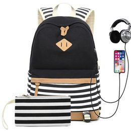 $enCountryForm.capitalKeyWord Australia - Hot Sale Canvas Backpack Women School Bags for Girls Large Capacity USB Charge Laptop Backpack Travel Rucksack for Teenagers #43795
