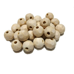 $enCountryForm.capitalKeyWord UK - Natural Solid Color Unfinished Wood Football Beads Round Ball Wooden Loose Beads for Crafts DIY Jewelry Making