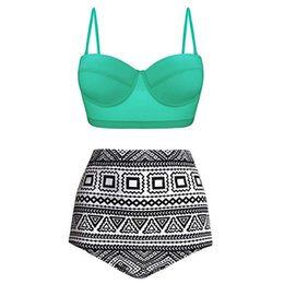 024056a335 Swimming Beaching Wear Sexy Push Up Bathing Suit High Waist Two-piece Set  Printed Bikini Plus Size Leaf Swimsuit Hot Spring Swimwear 6.5