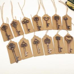 $enCountryForm.capitalKeyWord Australia - Vintage Key Bottle Opener Antique Key Metal Beer Opener Bronze Skeleton Keychain Bottle Openers Wedding Favor free DHL