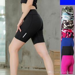 Straight Yoga Pants NZ - 7 Colors Women Cotton Yoga Sports Shorts Gym Leisure Homewear Fitness Pants Drawstring Shorts Beach Running Exercise Pants Tight Shorts 2045