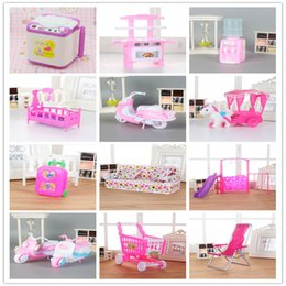 $enCountryForm.capitalKeyWord NZ - AOSST Mix lols Doll Plastic Furniture Mini Toy washing machine Cradle Bed sofa for lols and Kellyes diy House Doll Accessories