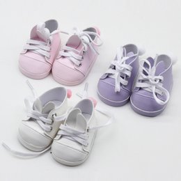 Babies Shoes For Girls NZ - Cute Rabbit Shoes For 18 Inch Girl Doll Shoes For Doll Reborn Baby