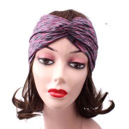 $enCountryForm.capitalKeyWord UK - Hot Sale Color-changed Sports Yoga Gym Stretch Headband Head Band Hair Band Sweat Sweatband Women Hair Accessories