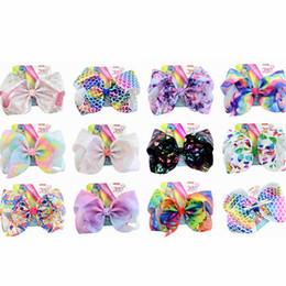 $enCountryForm.capitalKeyWord Australia - Baby Girl Children 8 inch Rainbow Hair Bow Kids Hair Accessories Fashion Hair Bow Clip 11styles RRA1644