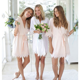 Night robe 3xl online shopping - Modern New Bridesmaid Robe Bride Wedding Gift Bathrobe Kimono Soft Night Gowns Sleepwear Robes For Weddings Night FS8217