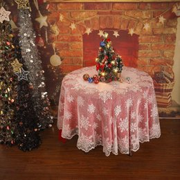 $enCountryForm.capitalKeyWord Australia - Christmas Table Cloth Cover White Vintage Lace Tablecloth Home Party Xmas Decor tablecloth for the tafelkleed table cover#10