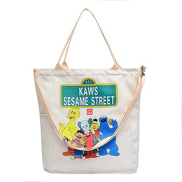 Free Designer Purses Australia - Kaws Designer Handbag for Women designer crossbody bag messenger bag for ladies Canvas designer shoulder tote purse Free Drop Shipping
