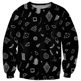 DiamonD hooDies for men online shopping - Autumn Winter Sweatshirts Men Hoodies Harajuku Simple Style Diamond Print Tops O neck Black Shirt For Unisex Pullover Clothing