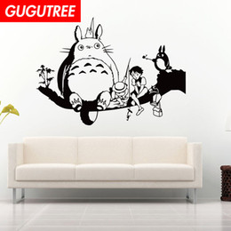 chinese famous paintings Australia - Decorate Home totoro cartoon art wall sticker decoration Decals mural painting Removable Decor Wallpaper G-1619