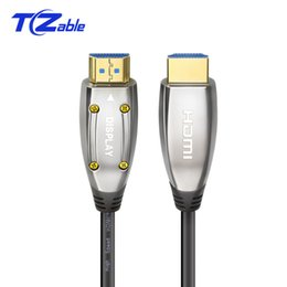 Fiber Audio Australia - HDM 8K Fiber Optic Cable 2.1 Version 48Gbps 120Hz For PS4 HDR VRR 3D Audio Video HDMI Cables Male HDMI Extension Cord