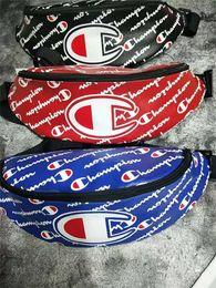 Leather packs online shopping - PU Leather Champions Print Waist Bag Unisex Fanny Packs Outdoor Travel Sports Belt Chest Bag Crossbody Bags Men Women Street Hiphop Bag C495