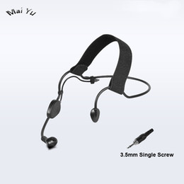 $enCountryForm.capitalKeyWord Australia - High Quality Wired Microphone Condenser Headset Microfone for Amplifier Speaker 3.5mm Single Screw Jack Connector Microkone