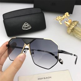 8149fc53f8 New fashion MAYBACH sunglasses 1069 frame hollow plate frame avant-garde  design style top quality uv protection eyewear with box