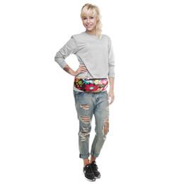 Wholesale Pillow Packs Australia - 3D Colorful Print women waist Bags fanny packs Hip Belt Bags Money Travelling Mountaineering Bag Waist Packs bolsa cintura YHW