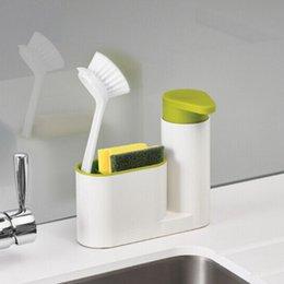 $enCountryForm.capitalKeyWord Australia - 2 in 1 Multifunctional Washing Sponge Storage Shelf Kitchen Bathroom Sink Detergent Soap Dispenser Storage Rack Stands