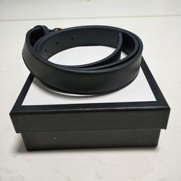 Wholesale Fashion designer belts men women belt Big Smooth buckle genuine leather belt man woman Luxury Belts 2.0cm,3.0cm,3.4cm,3.8cm width black
