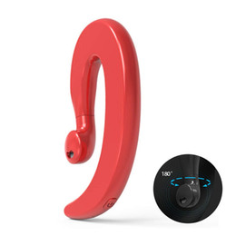 headphone mic smartphone 2019 - Ear Hook Wireless Headphone Non Ear Plug Bluetooth Headset with Mic 180 Dgree Single Ear Headset Painless Wear Sport Ear
