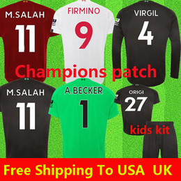 Wholesale blue shorts for sale - Group buy 2019 New Mohamed Salah Blackout soccer jersey trophy MANE Tops VIRGIL football shirt camiseta FIRMINO Kits ALISSON Black maillot