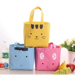 $enCountryForm.capitalKeyWord Australia - Cat Insulated Lunch Bag Thermal Picnic Bags For Girl Kids Travel Canvas Cooler Women Cartoon Lunch Box Bag Tote