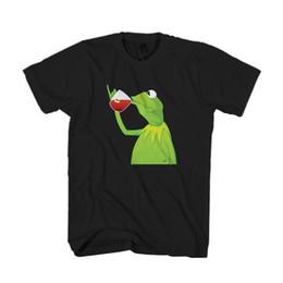 Frog T Shirts UK - None Of My Business King Lebron James Tea Frog Men & Women T-Shirt T Shirt TeesFunny free shipping Unisex top