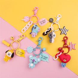 $enCountryForm.capitalKeyWord Australia - 2019 Cute Cartoon Keychain Key Ring Gift For Women Girls Bag Pendant PVC Figure Charms Key Chains Jewelry porte clef