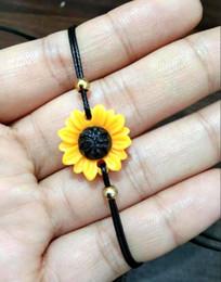 $enCountryForm.capitalKeyWord Australia - Fresh women's minimalist golden daisy chrysanthemum sun flower bracelet
