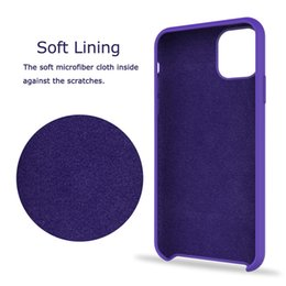 $enCountryForm.capitalKeyWord NZ - Original Liquid Silicone Case For Apple iPhones 11 XI Rubber Silicon Phone Case For iPhone XI 5.8 inch Cover