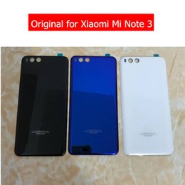 d04430531b8b Original for Xiaomi Mi Note 3 Battery Glass Back Cover Rear Housing Door  for Xiaomi Mi Note3 Rear Cover Repair Spare Parts