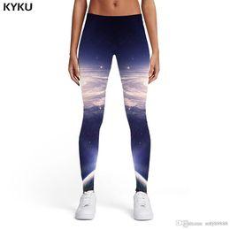 $enCountryForm.capitalKeyWord NZ - KYKU Brand Galaxy Leggings Women Vortex Spandex Space Leggins Nebula Elastic Sexy Ladies Womens Leggings Pants Casual Slim
