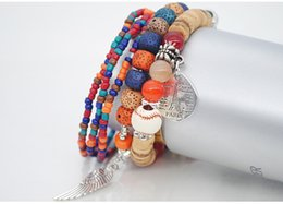 Wound string online shopping - 2019 Chromatic Bohemian Nation Wind Bracelet Female Multilayer Stretch Rice Bead Hand String Euramerican Adorn Article