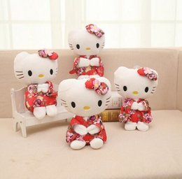 Wholesale Cartoon Kawaii Stuffed Animals Anime Cute Hello Kitty Plush Toy Kids Students Toys Soft Decorative Teddy Bears Plush Toy Gifts