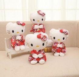 Cute Anime Cartoon Australia - Cartoon Kawaii Stuffed Animals Anime Cute Hello Kitty Plush Toy Kids Students Toys Soft Decorative Teddy Bears Plush Toy Gifts