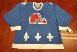 Cheap custom Quebec Nordiques Vintage CCM Hockey Jersey Teal New Stitched  Retro Hockey Jersey Customize any name number XS-5XL 3c40c1eec