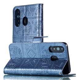 sony play 2019 - Elephant PU Wallet Leather Case For Samsung Galaxy A8S A50 M10 A10 M20 Sony Xperia XA3 XZ3 MOTO G7 Play Power Flip Stand