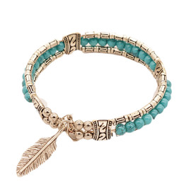 $enCountryForm.capitalKeyWord Australia - Fashion Tibetan Silver Jewelry Feather Gypsy Women Vintage Bangle Bohemian Bracelet For Women