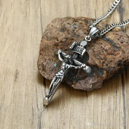free crucifix pendant Australia - Almost Free shipping Top quality 316L stainless steel Cross necklaces Jesus crucifix pendants with chain boyfriend's gift necklace 139