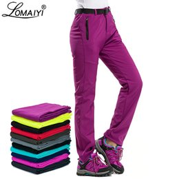 5490731ad49f0 Lomaiyi Warm Winter Pants For Women Thick Fleece Lining Red black Pants  Thermal Women's Trousers Waterproof Woman Pants Aw195 Q190510