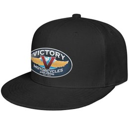 motorcycle dome Australia - Womens Mens Plain Adjustable Victory Motorcycle Logo Hip-Hop Cotton Dad Hats Summer Hats Flat Top Hat Airy Mesh Hats For Men Women Black