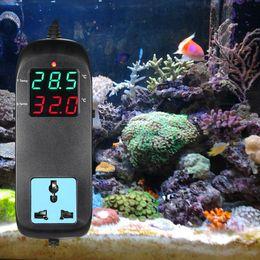 Temperature Switches Thermostats NZ - Digital LED Temperature Controller Thermostat Thermometer Control Switch Sensor Meter Probe For Water Aquarium & Breeding