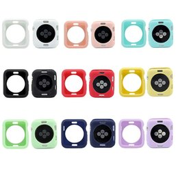 Apple Smart Watch 42mm Australia - Smart Accessories For Apple Watch Cases Silicone Iwacth 38mm 42mm Candy Colors 9 Colors Anti-fall Wearable