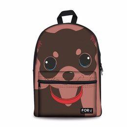 $enCountryForm.capitalKeyWord NZ - Customized Chihuahua Printing Canvas Schoolbag Female Casual Daypack Shoulder Bags for Kids Girls Preppy School Backpack Bolsa