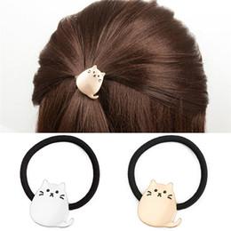 $enCountryForm.capitalKeyWord Australia - Cute Cartoon Alloy Totoro Gold Pendant Rope Women Fashion Hair Bands Tied Hair Elastic Accessories Lady Headwear