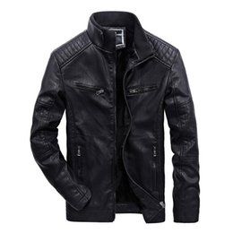 punk biker clothing Australia - Leather Punk Jackets Men PU Motorcycle Leather Windbreaker Motor Biker Hombre Coat High Quality Winter Clothes