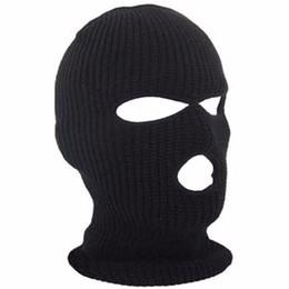 Bicyle Cycling Face Cover Ski Mask 3 Hole Winter Warm Face Knit Hat  Snowboard Ski Mask Black Bike Hat Cap New 3b454b000e1
