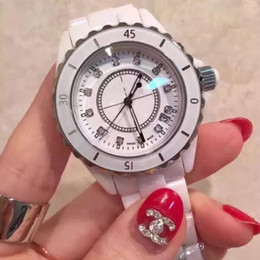 Wholesale Limited Edition Lady White Black Ceramic Watches women s fashion waterproof Quartz watch High quality luxury women s watche