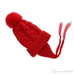 $enCountryForm.capitalKeyWord NZ - Toddlers Hot Kid Girl Infant Lovely Winter Knitted earmuffs Warm Hat Beanie Fur Ball Hats